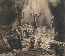 Rembrandt Christ Crucified between Two Thieves Giclee  Canvas Print