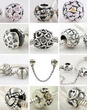 Jaime 925 Sterling Silver Love Heart Series A fit European Charm Bead Bracelet
