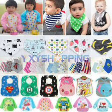 Baby Kids Waterproof Bandana Bibs Boy Girls Cartoon Feeding Saliva Towel Dribble
