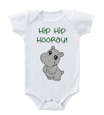 Baby Hippo Hippopotamus Hip Hip Hooray! Infant Toddler Baby Bodysuit One Piece