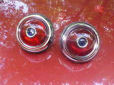 1950 pontiac custom tail lights with glass lens with blue dots,rat rod,32 ford