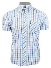 Lambretta Mens Classic Check Shirt Short Sleeved Button Down