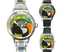Italian Charm Metal Watch Round Square Bird 50 Parrot art painting L.Dumas
