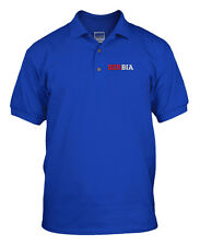 SERBIA COUNTRY Emboidery Embroidered Unisex Golf Polo Shirt Royal Blue