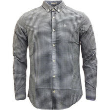 Original Penguin Long Sleeve Gingham Check Shirt Navy Navy