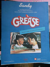 SANDY original film sheet music-Recorded by John Travolta from the film GREASE