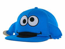SESAME STREET COOKIE MONSTER COOKIE IN HAND BIG FACE YOUTH SNAPBACK HAT CAP NEW