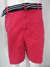 M.CLUB ROOM RED BELTED CARGO CASUAL SHORTS SIZE-38,40,42,46 NWT
