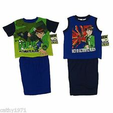 BNWT Licensed Boys Ben 10 Summer Pjs/Pyjamas - Sizes 3 & 8 - Two Styles