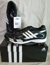 ADIDAS G05185  SPINNER 9 LOW BASEBALL SHOES/CLEATS BLACK/WHITE