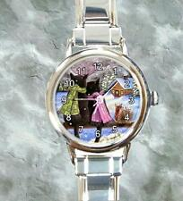 Round Italian Charm Metal Watch black Cat 585 squirrel art painting L.Dumas