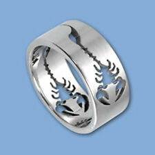 Scorpion Stainless Steel Laser Cut Ring - many sizes fnt