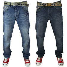 NEW MENS LOYALTY & FAITH MID RISE STRAIGHT LEG DENIM JEANS ALL WAIST & LEG SIZES