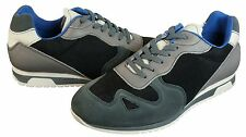 Kenneth Cole Mens Run Down Grey Suede Leather Casual Sneakers Shoes Kicks