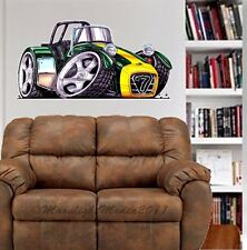 Caterham Super 7 Race Car WALL GRAPHIC DECAL MAN CAVE ROOM GARAGE #4964