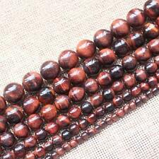Natural Red Tiger's eye 4-20mm Round Loose Beads 15""