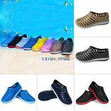 New Mens Casual Rubber Striped Sports Sandals Slippers Summer Beach Hollow Shoes