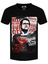 Batman V Superman Anti-Hero Superman Men's Black T-shirt