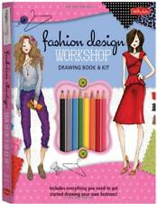 Fashion Design Workshop Drawing Book & Kit: Includes everything you need to get
