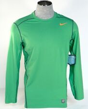 Nike Pro Combat Dri Fit Max Hypercool Green Long Sleeve Fitted Shirt Mens NWT