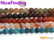 12mm Round Frost Matte Agate Stone Beads For Jewelry Making Gemstone Wholesale