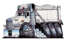 SEMI BIG RIG KENWORTH DUMP TRUCK CARTOON MENS T-shirt #9183 hauler