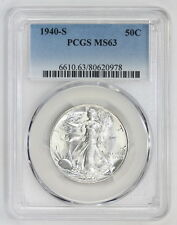 1940 S Walking Liberty Half Dollar MS 63 PCGS (#0978)