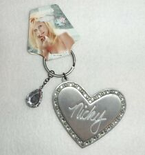 Chick by Nicky Hilton Claire's Bling Heart Pewter Keychain New with Tag