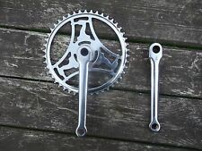 Vintage Raleigh industries chrome cotter pin crank set 46 tooth chain ring