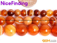 "Natural Botswana Stripe Agate Round Beads For Jewelry Making 15""DIY 6mm 8mm 10mm"