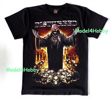DISTURBED T-Shirt Black Size S M L XL HARDROCK HEAVY METAL MONSTER SKULL BOARD