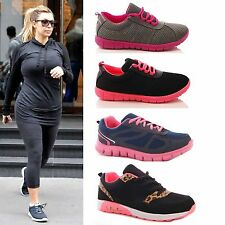 LADIES WOMENS TRAINERS GYM PUMPS RUNNING WALKING LIGHTWEIGHT SPORTS SHOES SIZE