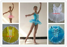 4 Colors Girls Ballet Costume Tutu Skirt Gymnastics Leotard Dance Dress SZ 3-8