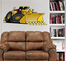 Bulldozer Construction Rig WALL GRAPHIC DECAL Man Cave Room 1022
