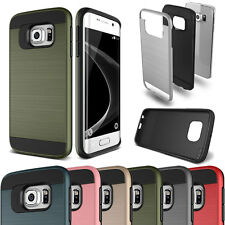 Slim Shockproof Hybrid Brushed Case Cover For Samsung Galaxy S Series Note 3 4 5