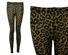 NEW LADIES LEOPARD PRINT ANKLE LENGTH LEGGINGS SIZE 6-12