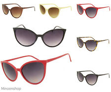 Women Designer Fashion Oversize Retro 1950's Pointed Cat Eye Fashion Sunglasses