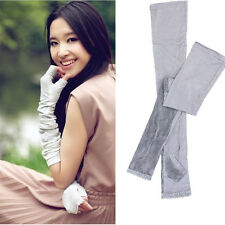 Women Fashion Long Lace UV Sun Protection Driving Gloves Golf Arm Sleeves