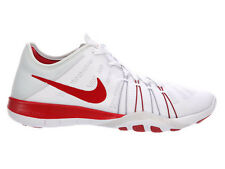 NEW WOMENS NIKE FREE TR 6 CROSS TRAINING SHOES TRAINERS WHITE / GYM RED / PURE P