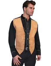Scully Western Vest Mens Boar Suede Snap Tailored Bourbon 504-409
