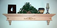 CUSTOMIZE TO MEET R NEEDS SOLID OAK WOODEN FIREPLACE MANTEL SHELF  W/ CORBELS