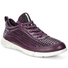 Ecco Intrinsic 1 Ladies' Shoes Women's Leather Trainers mauve 860013-01276 Karma