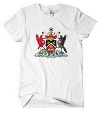 TRINIDAD AND TOBAGO COUNTRY SEAL FLAG White Cotton Adult Unisex T-Shirt Tee Top