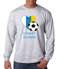 Canarian Soccer Canary Islands Football Cotton Long Sleeve T-Shirt Tee Top