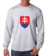SLOVAKIA COUNTRY SEAL FLAG Cotton Long Sleeve T-Shirt Tee Top