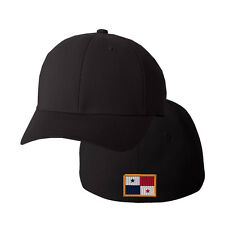 PANAMA FLAG Embroidery Embroidered Black Cotton Flexfit Hat Cap