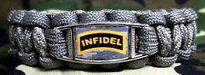 Proud To Be An American INFIDEL Anti-Terrorism Paracord SURVIVAL Bracelet Buckle