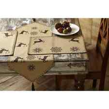 "5, 7 or 9 pc Prancer Reindeer Christmas 48"" or 36"" Table Runner & Placemat Set"