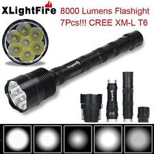 XLightFire 8000 Lumens 7x CREE XM-L T6 5 Mode 18650 LED Flashlight Torch lot