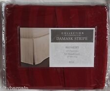 """BEDSKIRT Charter Club Collection DAMASK STRIPE 16"""" Drop RED Choose Size"""